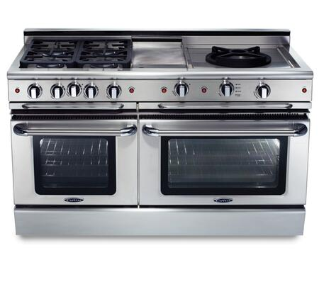 """Capital GSCR604QGN 60"""" Precision Series Gas Freestanding Range with Sealed Burner Cooktop, 4.6 cu. ft. Primary Oven Capacity, in Stainless Steel"""