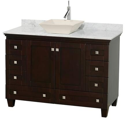 "Wyndham Collection WCV800048S 48"" Single Sink Vanity with Two Doors, 8 Drawers,"