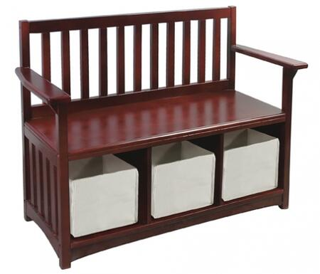 """Guidecraft G86208 Classic Espresso Series Children""""s  Wood Not Upholstered Bench"""