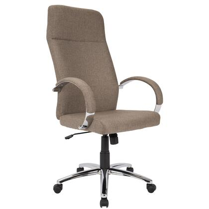 """LumiSource Ambassador OFC-AC-AMB 44"""" - 47"""" Office Chair with Fabric Upholstery, Casters and Adjustable Height in"""