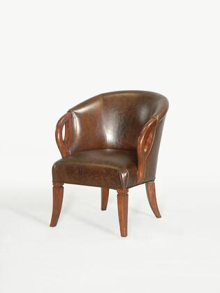 Ambella 03512700001 Armchair Leather Wood Frame Accent Chair
