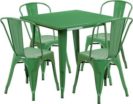 Flash Furniture ETCT002430GNGG Square Shape Patio Sets