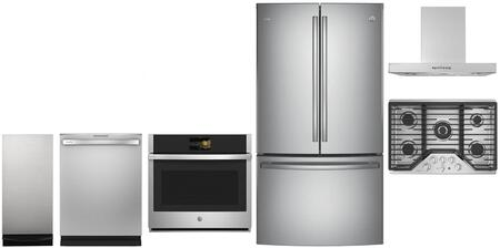 GE Profile 980002 6 piece Stainless Steel Kitchen Appliances Package