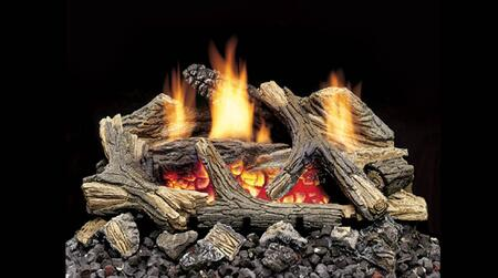 Majestic DEB Aged Hickory Ventless Gas Log Set, with Ember Blaze Burner, Ceramic Fiber Logs, Hand-Painted Realism, and CSA Design Certification