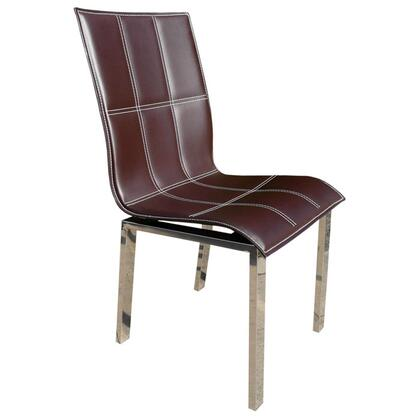 VIG Furniture VGERWAVESLC Waves Series Modern Leather Metal Frame Dining Room Chair