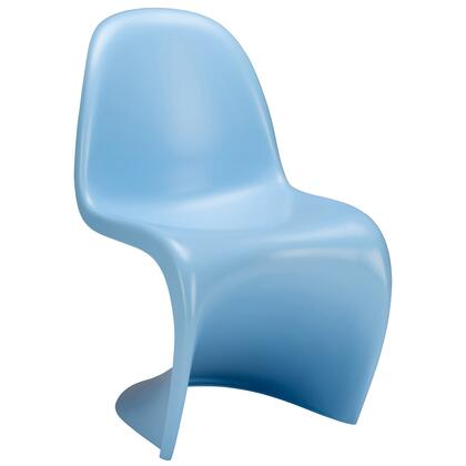 EdgeMod EM117BLU S Series Armless Plastic Frame Accent Chair