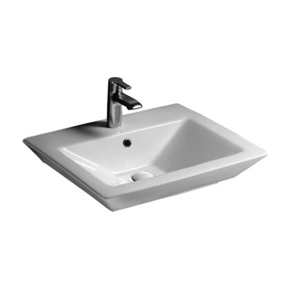 "Barclay 4368WH White 8"" Wide Spread Sink"