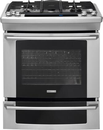 "Electrolux EW30GS75KS 30"" Wave-Touch Series Slide-in Gas Range with Sealed Burner Cooktop Warming 4.2 cu. ft. Primary Oven Capacity"