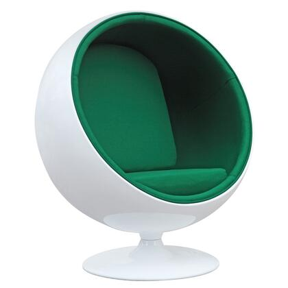 Fine Mod Imports FMI1150GREEN Ball Series Lounge/Armchair Fabric: 100% Wool Fiberglass Frame Accent Chair