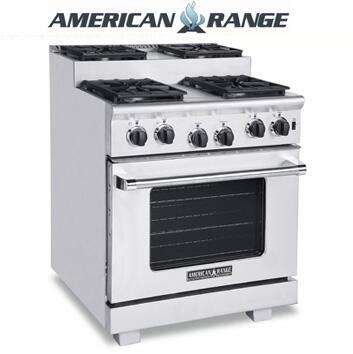 American Range ARR304SISS Titan Series Gas Freestanding Range with Sealed Burner Cooktop, 4.8 cu. ft. Primary Oven Capacity, in Stainless Steel