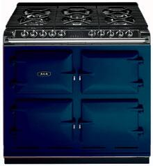 AGA A64NGDBL Six-Four Series Dual Fuel Freestanding Range with Sealed Burner Cooktop, 4.5 cu. ft. Primary Oven Capacity, in Dark Blue
