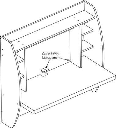 Prepac Wehw02001 Floating Wood Desk