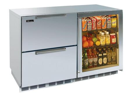 Perlick HP48FRS64RDNU Signature Series Counter Depth Side by Side Refrigerator with 12.3 cu. ft. Capacity