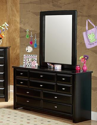 Chelsea Home Furniture 3534535-4536-X Dresser with 9 Drawers, Mirror, and All Pine Wood Construction