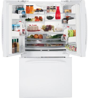 GE PFCF1NJXWW  Counter Depth French Door Refrigerator with 20.8 cu. ft. Capacity in White