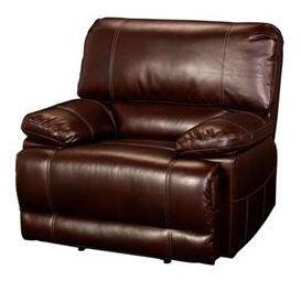 """New Classic Home Furnishings 2-303-15-NCH Wyoming 42.5"""" Recliner with Recline Mechanism, Hardwood Frames, Sinuous Spring """"No Sag"""" Deck Support, Pocketed Spring Cushion and Memory Foam Topper, in Chestnut"""