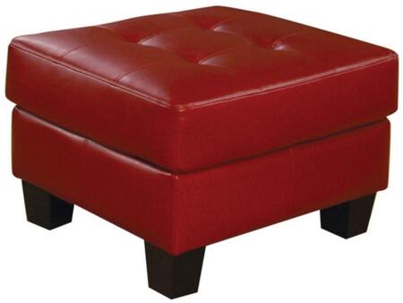 Coaster 501834 Samuel Series Contemporary Bonded Leather Wood Frame Ottoman