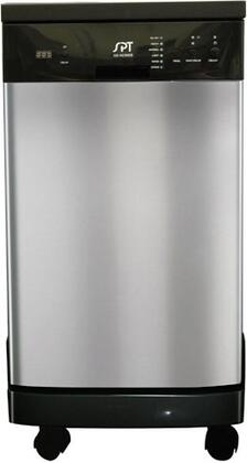 """Sunpentown SD9241SS 18"""" Portable Full Console Dishwasher 