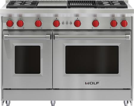 Wolf Gr484cg 48 Inch Stainless Steel Natural Gas Convection Freestanding Range