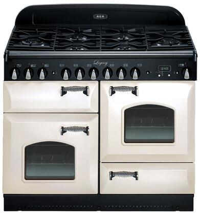 "AGA ALEG44DFCDIVY 44"" Legacy Series Dual Fuel Freestanding 