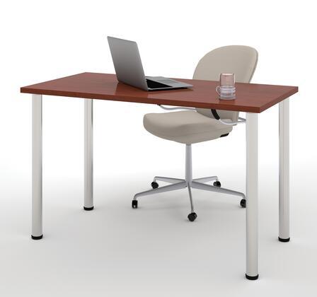 "Bestar Furniture 65852 Bestar 24"" x 48"" Table with round metal legs"