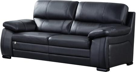 American Eagle Furniture EK041 Leather Match Sofa EK041BKSF Black ...