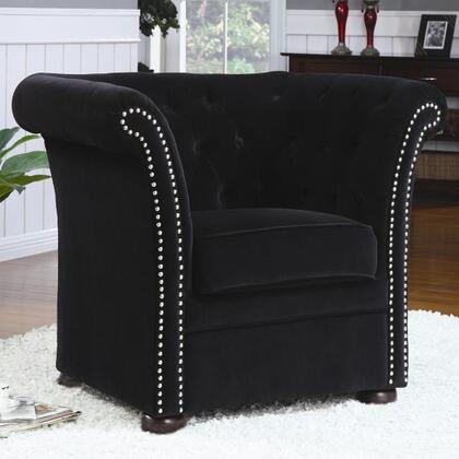 Coaster 902032 Club Fabric Wood Frame Accent Chair