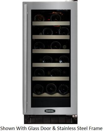 """Marvel 30WCMBDLR 14.875"""" Built In Wine Cooler, in Custom Frame"""