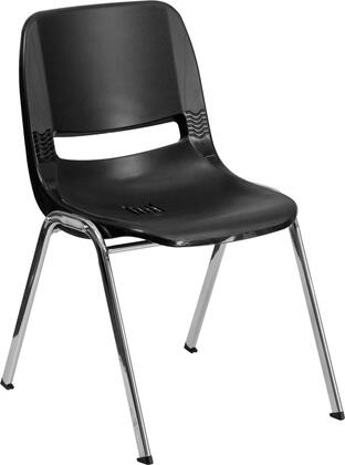 Flash Furniture RUT12BKCHRGG Hercules Series  with Metal Frame in Black and Chrome