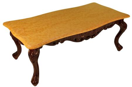 J. Horn CF98CMT Transitional Style Cocktail Table: Camel Top