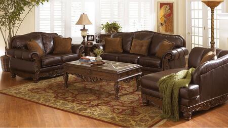 Milo Italia MI6844KIT3PCDKBR Franklin Living Room Sets