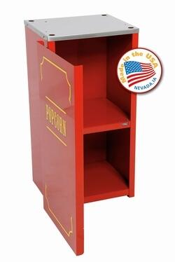Paragon 30X0210 Theater Pop Premium Red Stand with Two Inner Shelves for Theather Pop Popcorn Poppers