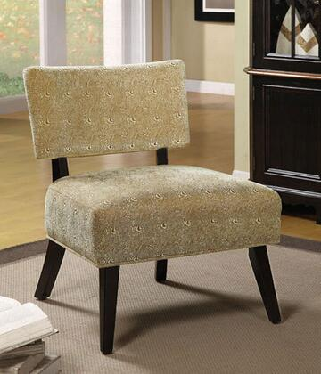 Coaster 460504 Armless Microfiber Wood Frame Accent Chair