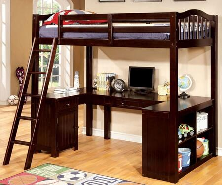 Furniture of America CMBK265EXBED Dutton Series  Twin Size Bed