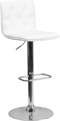 Flash Furniture CH112080WHGG Residential Vinyl Upholstered Bar Stool