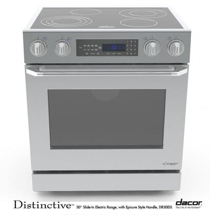 """Dacor DR30EIS 30"""" Distinctive Series Slide-in Electric Range with Smoothtop Cooktop 4.8 cu. ft. Primary Oven Capacity"""