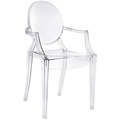"Modway EEI-121 Casper 18.5"" Stackable Dining Chair with Sturdy Polycarbonate Construction, Injection Molded, Indoor/Outdoor All Weather Use, and Modern Design"