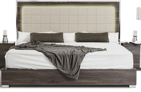 Vig Furniture Modrest San Marino Queen Size Bed Vgacsanmarinobedgryq