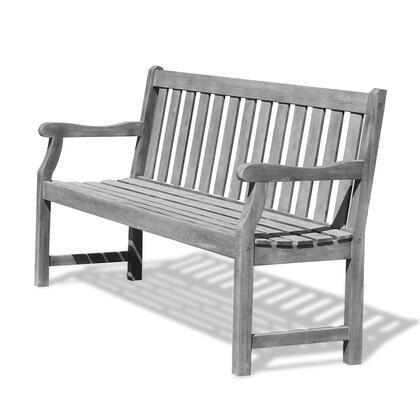 Vifah V1625F Eco-Friendly 5-Foot Outdoor Garden Bench