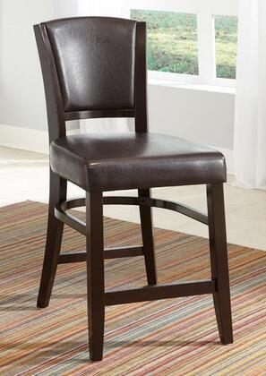 Coaster 103689BRN Dining 1036 Series Casual Vinyl Wood Frame Dining Room Chair