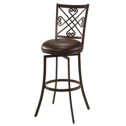 Pastel Furniture QLSV225 Savannah Bar Height Swivel Barstool in Brown