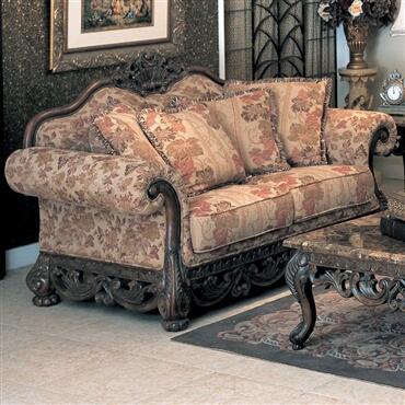 Yuan Tai NE3000L Newport Series Fabric Sofa with Wood Frame Loveseat