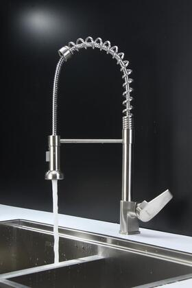 Ruvati RVF1216X Commercial Style Pullout Spray Kitchen Faucet - Stainless Steel
