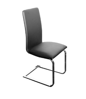 "Casabianca Murano Collection CB-A120 38"" Dining Chair with Eco-Leather Upholstery, Stitched Detailing and Chrome Legs in"