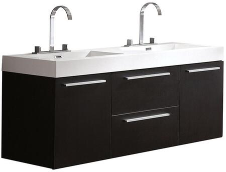 Fresca FCB8013XXX Opulento Modern Double Sink Bathroom Cabinet with Integrated Sink in