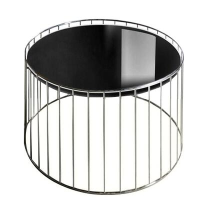 VIG Furniture VGDVT47ABLK Modern Round End Table
