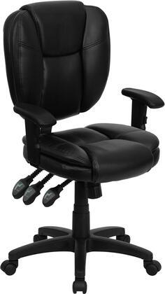"Flash Furniture GO930FBKLEAARMSGG 19.75"" Contemporary Office Chair"