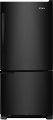 "Whirlpool WRB119WFBB 30""  Bottom Freezer Refrigerator with 18.7 cu.ft. Capacity in Black"