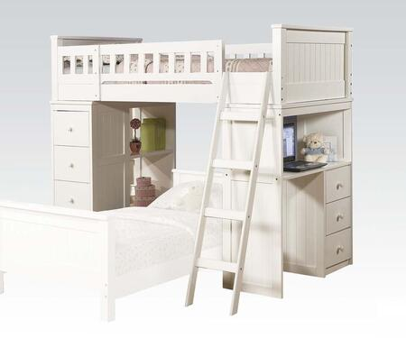 Acme Furniture 10970A Willoughby Series  Twin Size Loft Bed