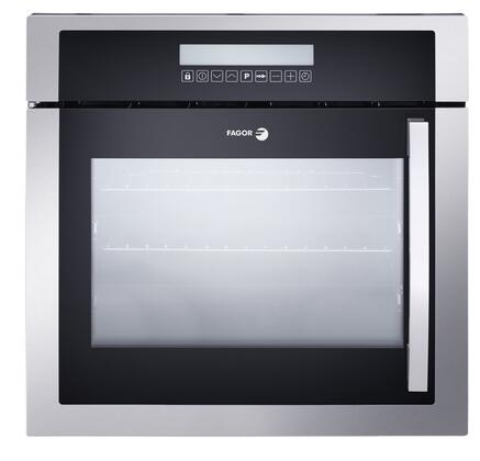 "Fagor 6HA-200TX 24"" European Convection Wall Oven, with 10 Cooking Programs, LED Touch Control, and High Energy Efficiency, in Stainless Steel"